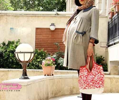 مانتو بارداری برای عید
