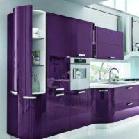 ۴۵ مدل دکوراسیون آشپزخانه با رنگ بنفش با طرح های جدید ۲۰۱۹