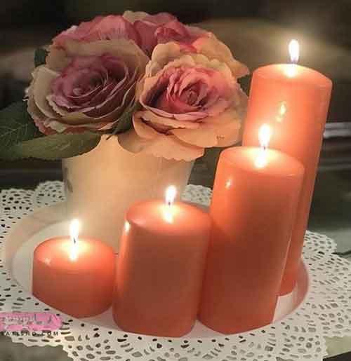 تزیین میز ساده با شمع مرجانی