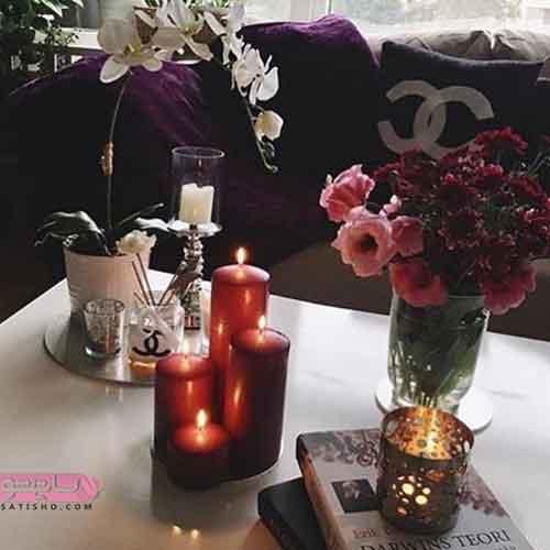 انواع ایده برای تزیین شمع