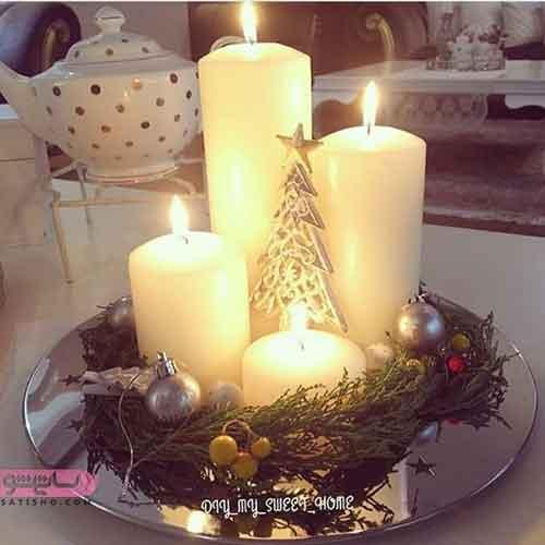 تزیین شمع کریسمس