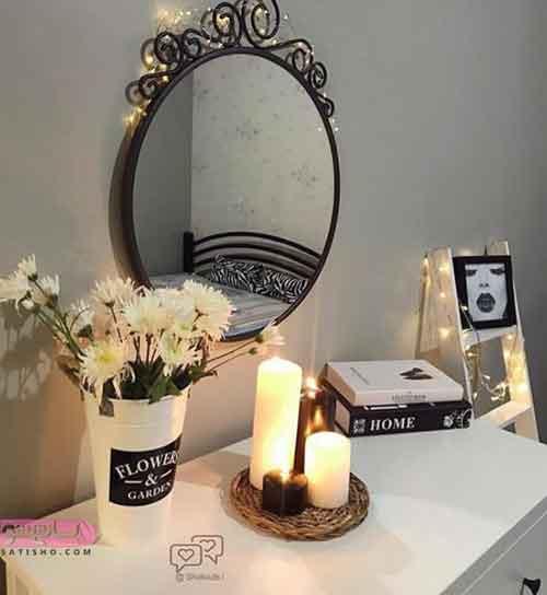 عکس از تزیین شمع استوانه ای