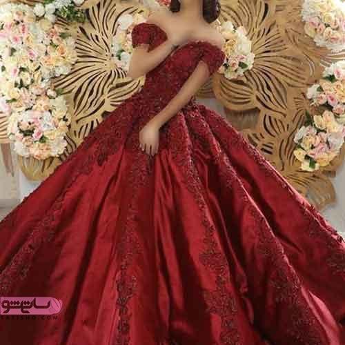 عکس مدل لباس نامزدی بلند