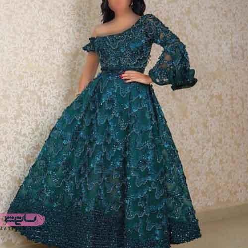 مدل لباس نامزدی بلند دنباله دار