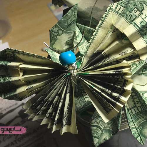 ایده برای عید نوروز به صورت پروانه اوریگامی