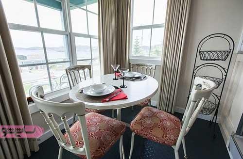 میز غذاخوری سفید رنگ