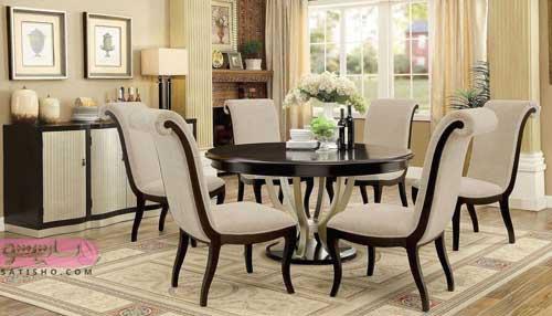 میز غذاخوری با روکش پارچه ای