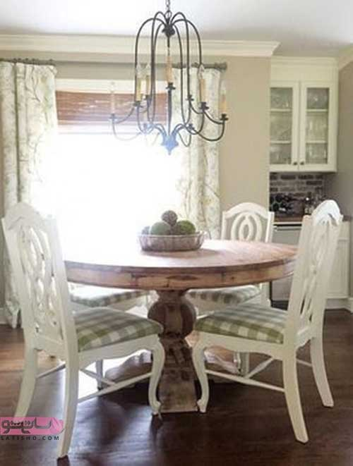 مدل میز غذاخوری چوبی برای خانه عروس