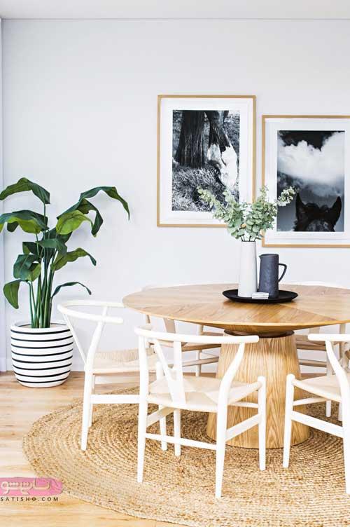 طراحی و دکوراسیون فضای مدل میز غذاخوری
