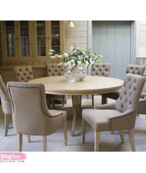 مدل میز غذاخوری ساده زمینی با صندلی های زیبا