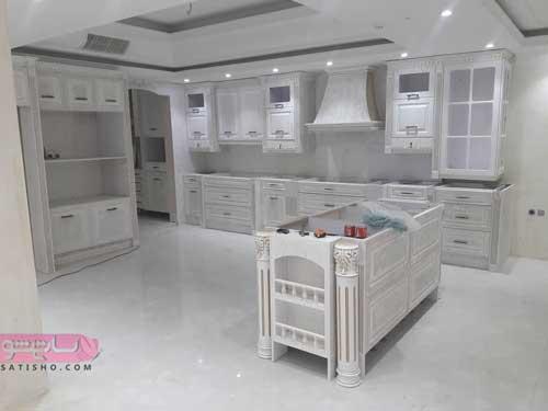 کابینت آشپزخانه سفید برای خانه های ایرانی