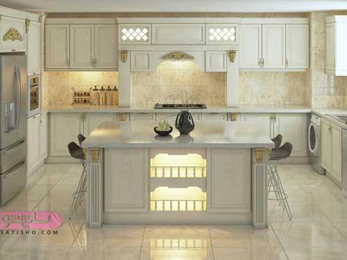 طراحی کابینت برای آشپزخانه 6 متری