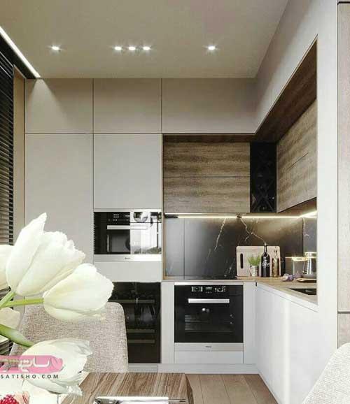 کابینت ام دی اف آشپزخانه کوچک و بزرگ