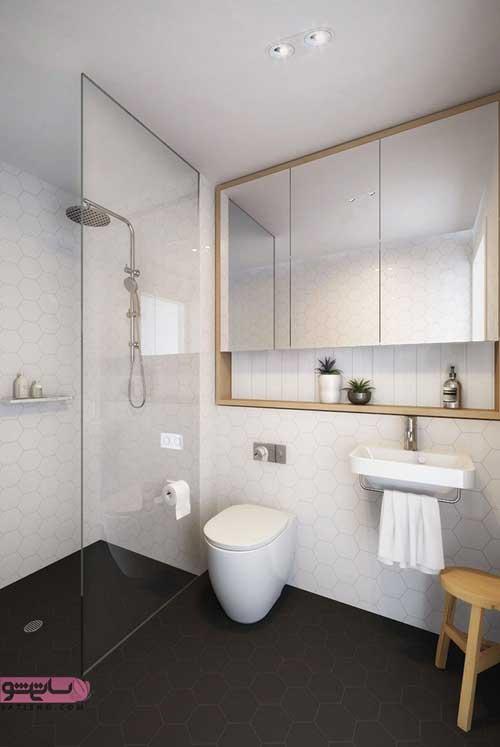 مدل اینه توالت پی وی سی