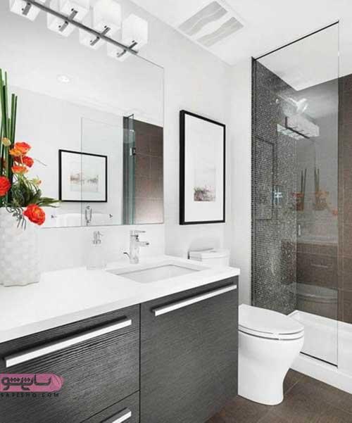 مدل آینه دستشویی ساده رنگ سال