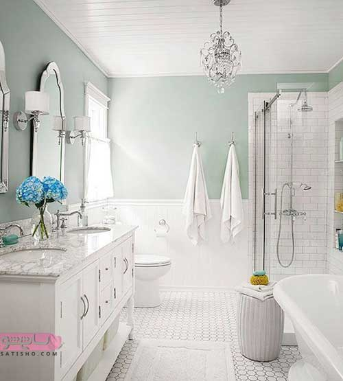 آینه دستشویی دلفین جدید و رنگ روشن