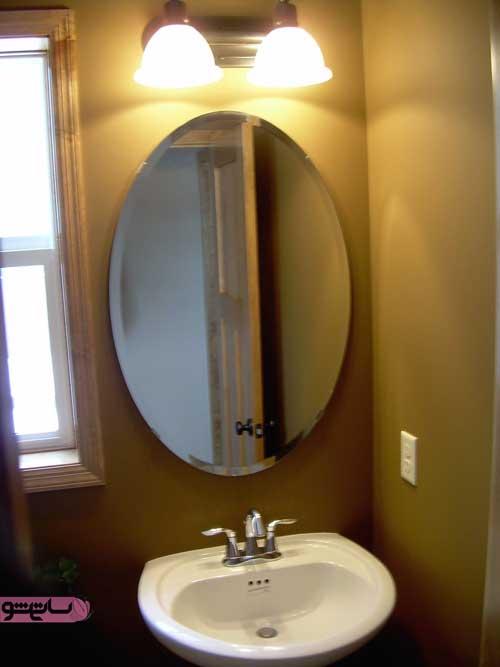 آینه با اشکال هندسی برای روشویی