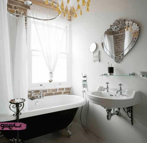 آینه دسشویی به شکل قلب برای سلیقه های فانتزی