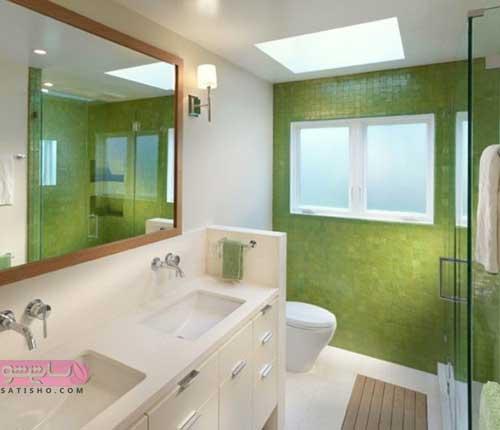 ایده برای چیدمان آینه دستشویی