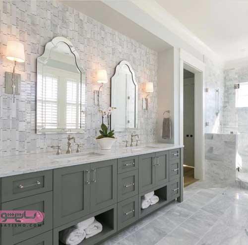 مدل آینه دستشویی ساده ولی شیک و خاص