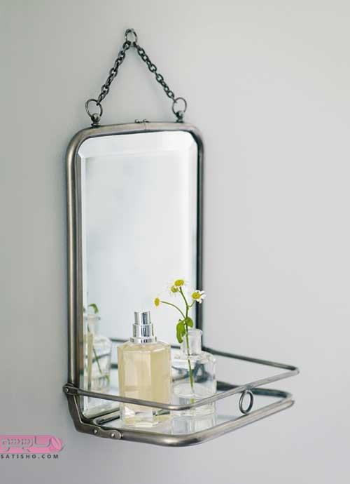 مدل آینه شلف دسشویی با طرح شیک و ساده
