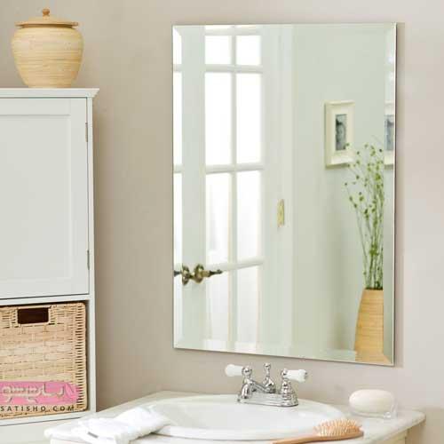 عکس آینه دستشویی جدید با نورپردازی مخفی با طرح های 2019