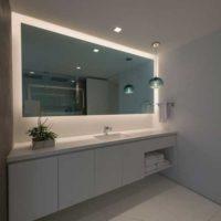 عکس آینه دستشویی جدید با نورپردازی مخفی با طرح های ۲۰۱۹