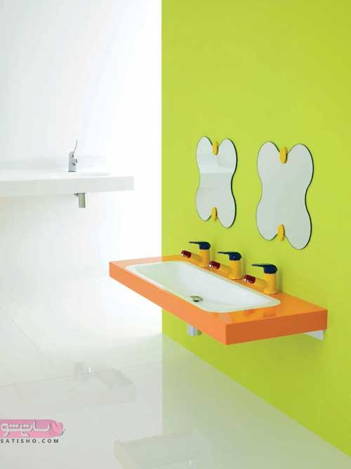 مدل آینه دوتایی و جفت برای سرویس بهداشتی و حمام