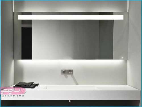 آینه دستشویی با نورپردازی مخفی و شیک 98
