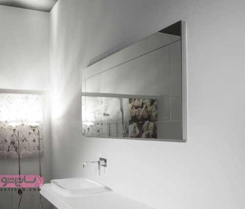 جدیدترین نمونه های آینه دسشویی بدون قاب