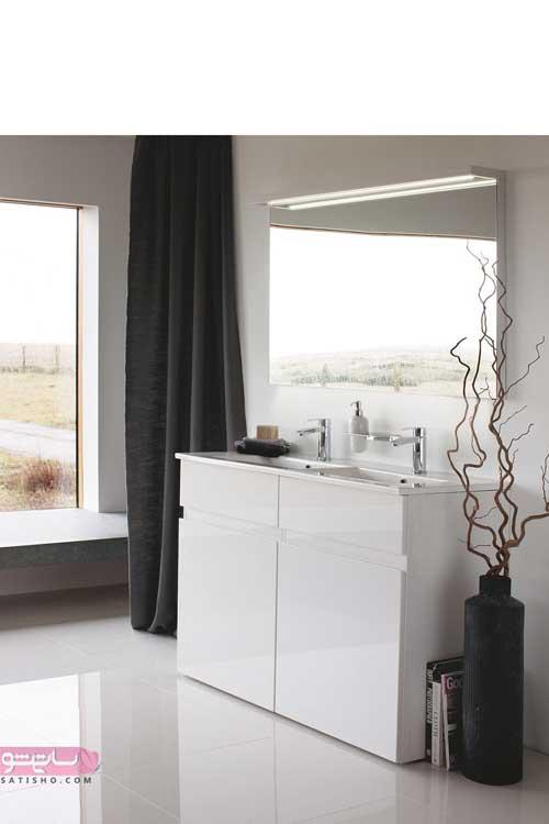 مدل آینه دستشویی کوچک و زیبا دلنشین
