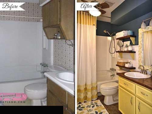 مدل آینه دستشویی پی وی سی رنگ روشن زیبا