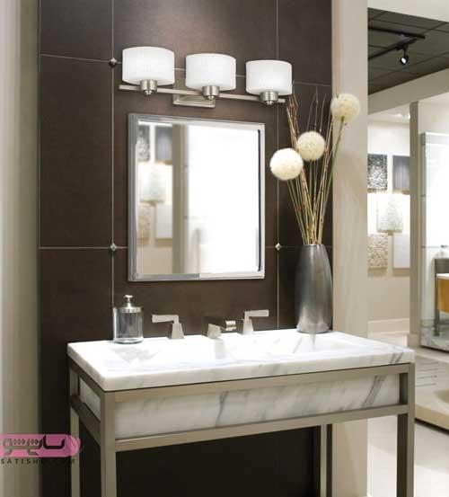 مدل آینه دستشویی شیک و جدید با طرح های متنوع