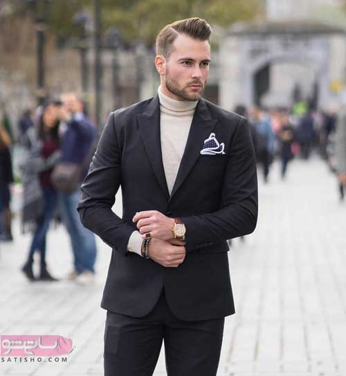 مدل کت و شلوار مردانه مشکی