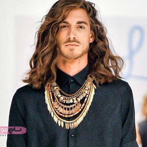 موی بلند مردانه برای صورت کشیده