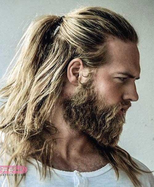 مدل بستن موی بلند به روش جدید برای موهای مردانه