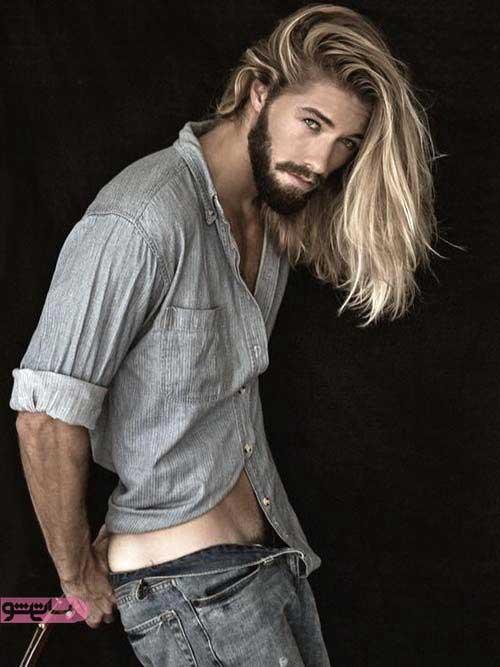 عکس موی بلند مردانه