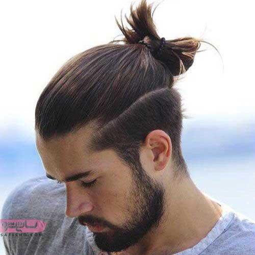 بستن موی مردانه به صورت مدرن و فشن