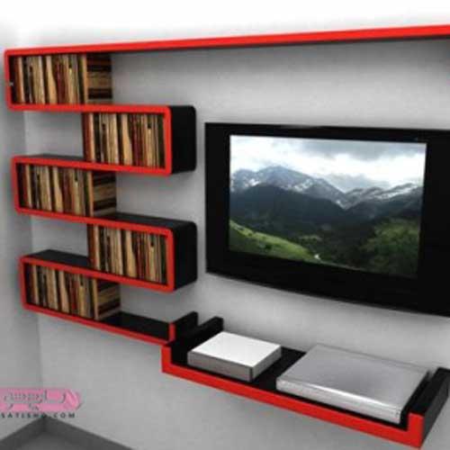 ایده های خلاقانه برای شلف دیواری میز تلویزیون