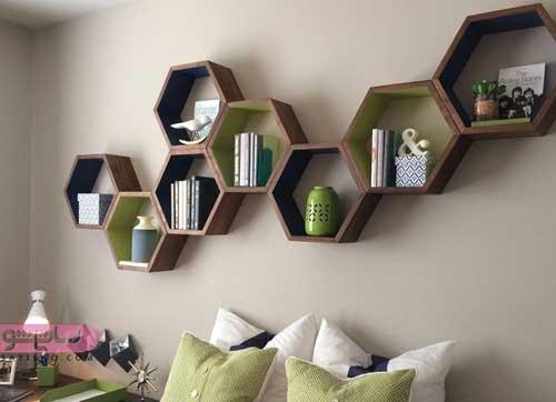 انواع شلف دیواری برای منازل مسکونی