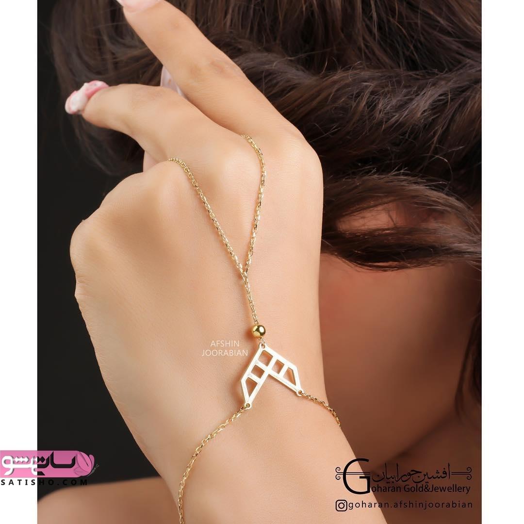دستبند تمیمه طلا با الگوی فوق العاده جذاب و زیبا