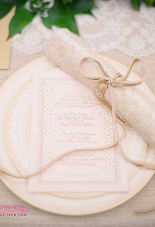آموزش تصویری تزیین سفره دستمال به شکل روبان