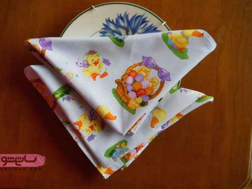 تزیین دستمال سفره داخل لیوان