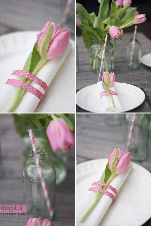ایده تزیین دستمال کاغذی