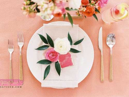 جدیدترین عکس های تزیین سفره به صورت گل با دستمال