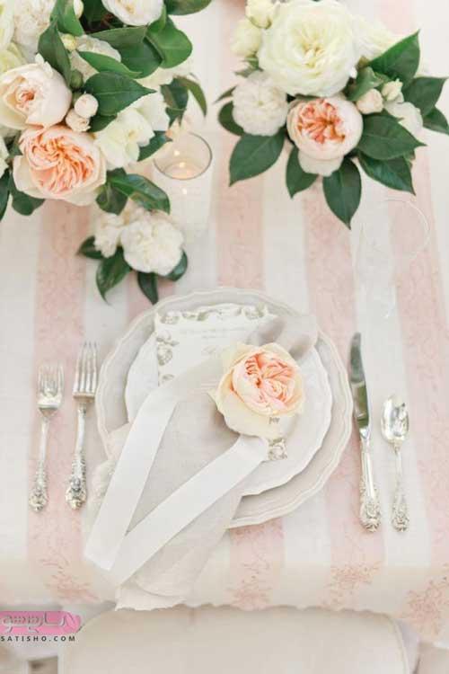 آموزش تا زدن دستمال برای مجلس عروسی