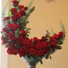 تزیین منزل با گل رز