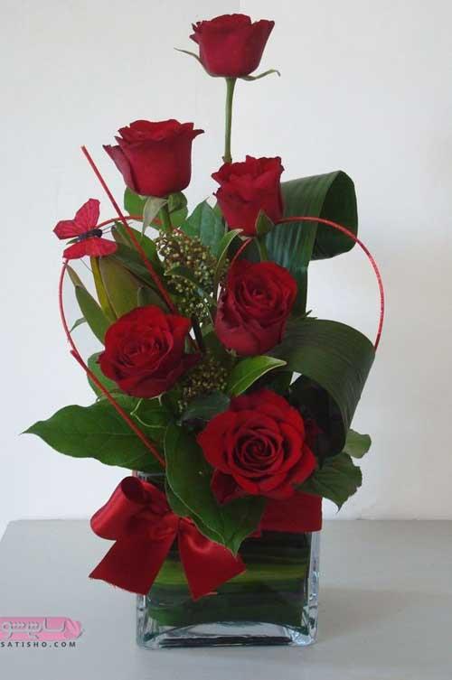 گل رز سرخ برا ولنتیاین