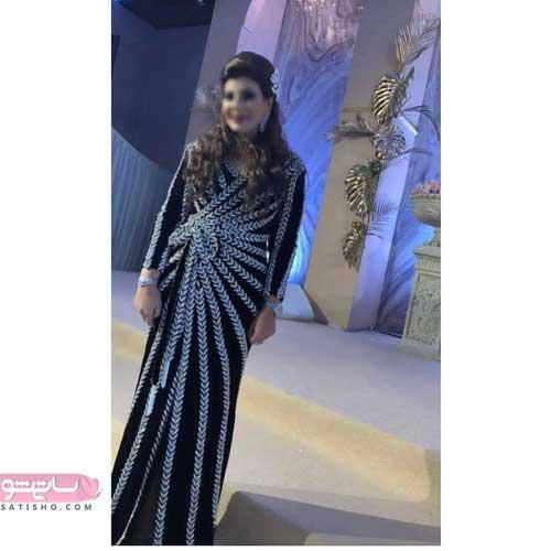 مدل لباس حریر گلدار برای مراسم عقد