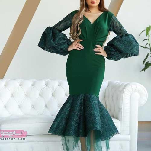 مدل لباس مجلسی دخترانه مدل ماهی